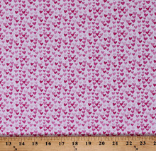 Pink Hearts on White Valentine's Day Cotton Fabric Print by the Yard D47... - $11.95