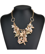 Conch Shell Starfish Simulated Pearl Necklace Sweet Fashion Sea Star Mul... - $8.64