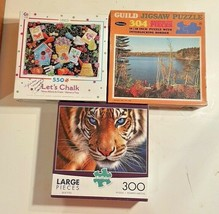 Puzzles (3) 300, 304 & 550 Larger Pieces By Buffalo, Whitman, & Ceaco  - $29.70