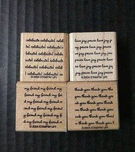 Stampin Up Rubber Stamps Lot Salutations Expressions Background Repeated Words 4 - $14.95