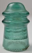 "Vintage Hemingray No. 9 Teal Green Glass Insulator 3.625"" Tall Collectib... - $14.99"