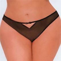 Seven 'til Midnight BLACK Crotchless Bondage Bikini Panty, US One Size - $8.91