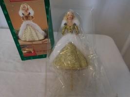 Hallmark Christmas 1995 Happy Holidays Barbie  stocking hanger faux fur ... - $11.90