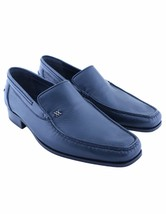 Artioli New Men's Navy Blue Calf Leather Loafers Slip On Shoes - $620.00