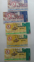 Set of 5 Tickets to All 5 1996 St. Louis Cardinals Postseason Home Games - $13.55