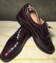 J. ALLEN LTD Mens Burgundy Leather Oxford Shoes Size 8.5 M - $29.69