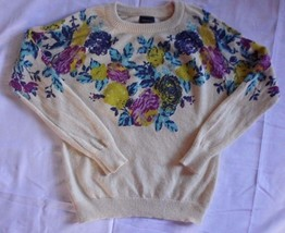 Floral Soft Sweater Top SIZE Medium FOREVER 21 MULTICOLOR Crew Neck Supe... - $19.55