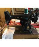 Vintage Singer Sewing Machine AM265872 Wood Cas... - $197.95