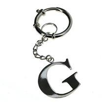 Alphabet G Charms Keyring Sterling Silver Key C... - $75.35