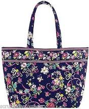 Vera Bradley Ribbons Grand Tote Bag Pink Navy Breast Cancer Awareness New - $129.95