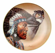 Franklin Mint Spirit of Wisdom Gary Ampel collector Owl plate CP579 - $36.25
