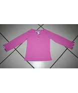 Komar Kids Size 4/5 Long Sleeve Pink Henley Sleep Top - $6.99