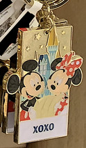 Disney Parks Mickey Minnie Mouse Character Metal Keychain XOXO NEW - $21.90