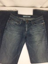 Joes Women Blue Casual Jeans Size 27W Back Pocket Logo Rip Down Style Bi... - $18.70