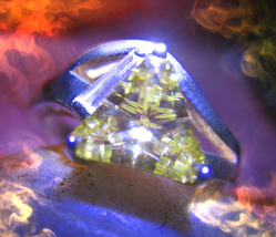 Haunted RING SUN GOD RA DJINN GENIE MAGICK VESSEL 925 TOPAZ Cassia4 - $212.00