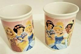 Pair of Disney Princess Mugs Cups Cinderella Ariel Aurora Tiana Jasmine 2013 - $19.40