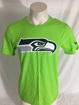 Seattle Seahawks Green T-Shirt NFL Football Nike Athletic Cut Men's Medium - $24.99