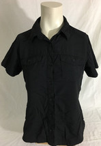 Columbia Sportswear Black Button-Up Short Sleeve Women's Small - $24.99