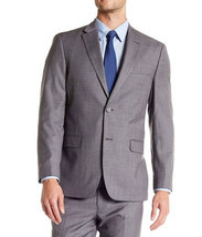 NEW MENS TOMMY HILFIGER WOOL BLEND TAILORED TRIM FIT GREY SUIT BLAZER JA... - £42.13 GBP