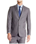 NEW MENS TOMMY HILFIGER WOOL BLEND TAILORED TRIM FIT GREY SUIT BLAZER JA... - £42.68 GBP
