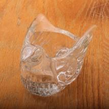 Avon Bird Shape Candle Holder Clear Glass Dove Votive - $23.36