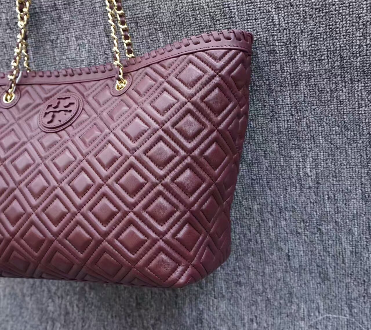 NWT Tory Burch Marion Quilted Small Tote