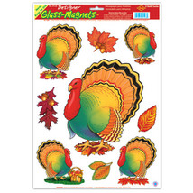"Fall/Thanksgiving Turkey Clings Sheet - 12"" x 17"" - $23.88"
