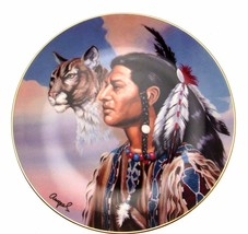 Franklin Mint Spirit Leader Gary Ampel Native American plate CP1383 - $36.25