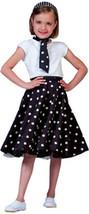 Girl's Costume: Black/White Sock Hop Skirt - $31.99