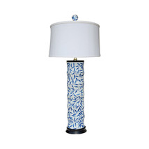 Blue and White Bamboo Floral Bamboo Style Porce... - $247.49