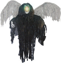 Halloween Prop: Black Winged Reaper - Hanging - $24.99