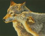"""Wolf Kiss Counted Cross Stitch Kit - 14"""" x 11"""""""