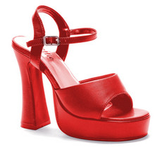 Costume Shoes: Platform Lea - Red | Size: 11 - $43.99