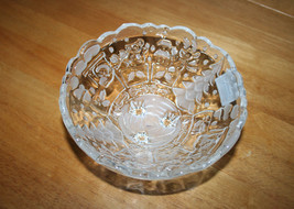 """Gorham Holiday Traditions North Pole Express Train 6 3/4""""  Footed Glass ... - $10.99"""