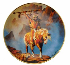 Franklin Mint Spirit of the South Wind Herman Adams Native American Plat... - $36.25