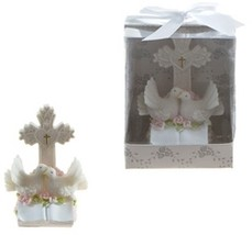 Pair of Doves on Book with Cross Poly Resin - $239.52