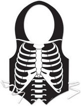 Plastic Skeleton Rib Cage Vest - $103.00 CAD