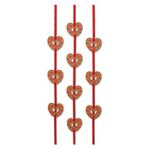 Valentines Heart Ribbon Stringers - 4' - ₨2,293.72 INR