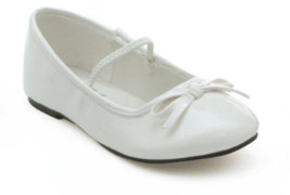 Costume Shoes: Girl's Ballet Flat - White | Medium - $32.99