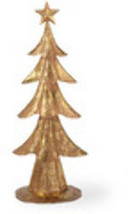 "16"" Gold Foil Metal Tree Holiday Accent - $19.99"