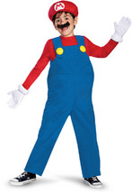 Super Mario Bros. - Mario Deluxe Child Costume - Large (10/12) - $46.99