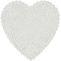 "Paper Doilies-6"" White Heart 18/Pkg - $5.99"