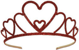 Glittered Metal Heart Tiara - $59.94