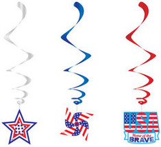 Patriotic Hanging Foil Swirls - $89.64