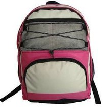 "18"" Backpack w/2 main compartments - Hot Pink/Bei - $514.80"