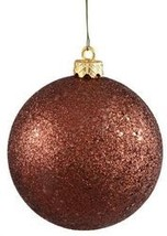 80mm Glitter Brown ball ornament with wire - $719.64