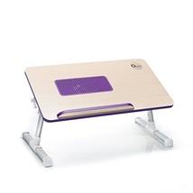 Portable Folding Lap Desk Adjustable Wood Lapto... - $34.82