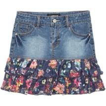 Jordache Girls' Mixed Media Denim Skirt, Medium... - $16.81