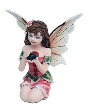 "Fairy Garden Flower Fairy Ladybug Mini Garden of Enchantment Figurine 3"" - $16.78"
