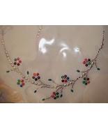 LARGE Neckline Shirt Crystal Multi Colored Rhinestone IRON ON Applique 9... - $9.99